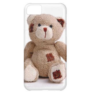 Caso remendado del iPhone 5 del oso de peluche