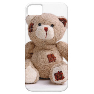 Caso remendado del iPhone 5 del oso de peluche iPhone 5 Case-Mate Coberturas