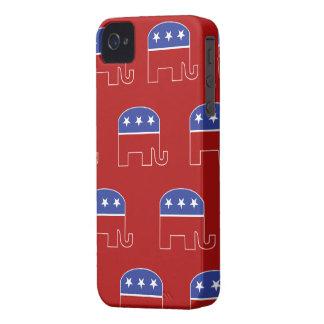 Caso republicano de IPhone del elefante iPhone 4 Case-Mate Cárcasas