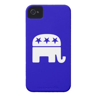 Caso republicano del iPhone 4 del elefante iPhone 4 Case-Mate Protector