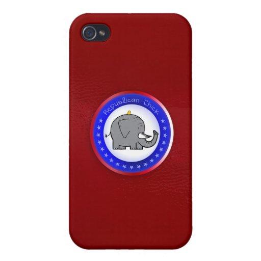 caso republicano del iphone del polluelo iPhone 4 cárcasas
