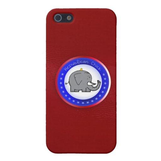 caso republicano del iphone del polluelo iPhone 5 carcasa