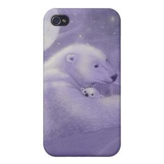Caso reservado del iPhone 4 del oso polar del invi iPhone 4 Funda