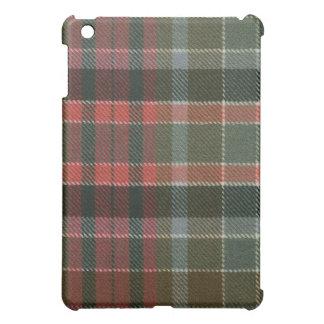 Caso resistido rojo del iPad del tartán de Gordon