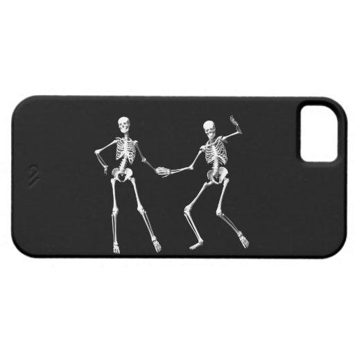 Caso retro de baile del iPhone 5 de los esqueletos iPhone 5 Protector