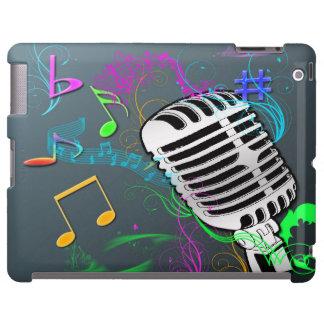 Caso retro de Barely There del iPad de la música Funda Para iPad