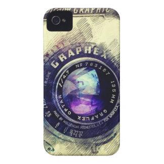 Caso retro de Iphone de la mirada de la cámara iPhone 4 Case-Mate Carcasa