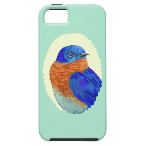 Caso retro de Iphone del Bluebird del camafeo del  iPhone 5 Case-Mate Cárcasas