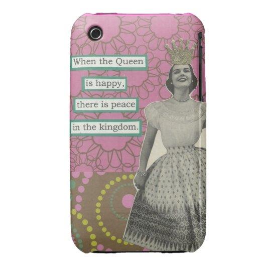 Caso retro de la reina iphone3 funda para iPhone 3 de Case-Mate