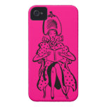 Caso retro de la tienda de belleza iphone4 iPhone 4 Case-Mate carcasa