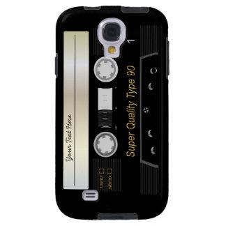 Caso retro de Samsung S4 de la cinta de casete Funda Galaxy S4