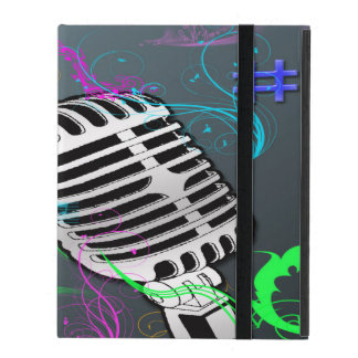 Caso retro del iPad 2/3/4 de la música sin