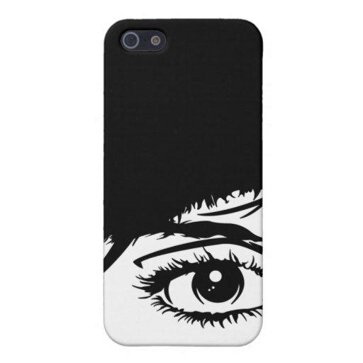 Caso retro del iphone 4 de la cara de los chicas iPhone 5 protector