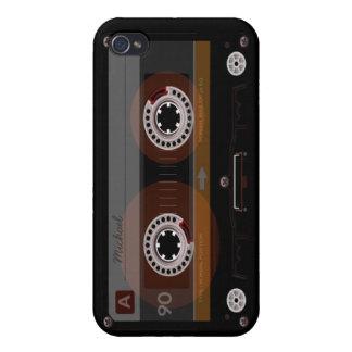 Caso retro del iPhone 4 de la cinta de casete de m