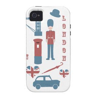 Caso retro del iphone 4 del amor de los iconos de  iPhone 4/4S carcasa