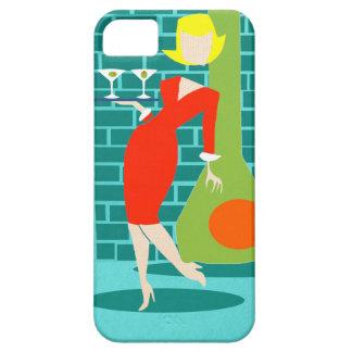 Caso retro del iPhone 5/5S de la mujer del dibujo iPhone 5 Case-Mate Cárcasas