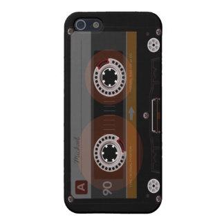 Caso retro del iPhone 5 de la cinta de casete de m