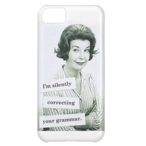 Caso retro del iPhone 5 de la mujer, profesor de l Funda Para iPhone 5C