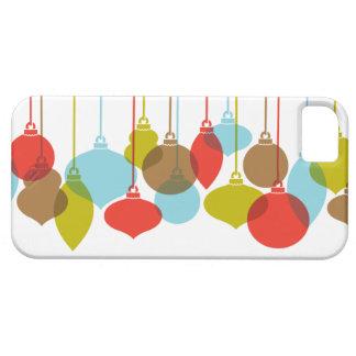Caso retro del iPhone 5 del navidad del ornamento iPhone 5 Funda