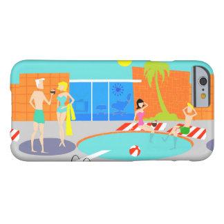 Caso retro del iPhone 6 de la fiesta en la piscina Funda Barely There iPhone 6