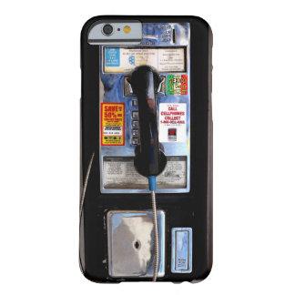 Caso retro del iPhone 6 del teléfono público Funda Barely There iPhone 6
