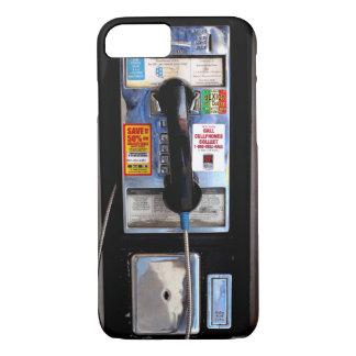 Caso retro del iPhone 7 del teléfono público Funda iPhone 7