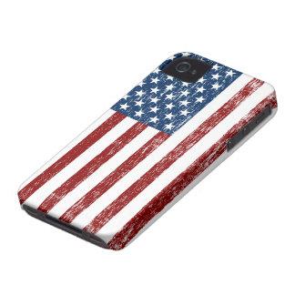 Caso retro del iPhone de la bandera americana Carcasa Para iPhone 4 De Case-Mate