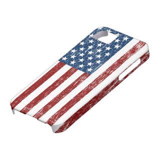 Caso retro del iPhone de la bandera americana Funda Para iPhone SE/5/5s
