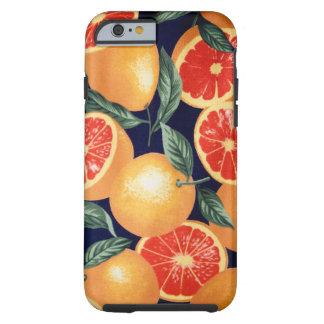 Caso retro del iPhone de los naranjas del vintage Funda Para iPhone 6 Tough