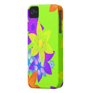 Caso retro del iPhone del arte del flower power de iPhone 4 Case-Mate Carcasa