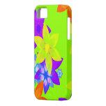Caso retro del iPhone del arte del flower power de iPhone 5 Case-Mate Cobertura