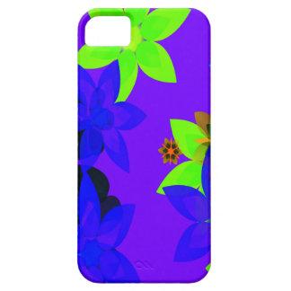 Caso retro del iPhone del arte del flower power de iPhone 5 Carcasas