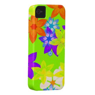Caso retro del iPhone del arte del flower power de Case-Mate iPhone 4 Cobertura