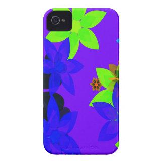 Caso retro del iPhone del arte del flower power de iPhone 4 Case-Mate Cárcasa