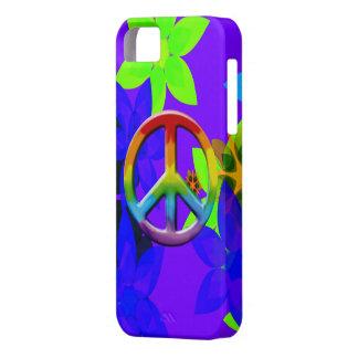 Caso retro del iPhone del arte del signo de la paz iPhone 5 Fundas