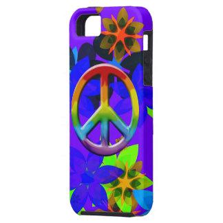 Caso retro del iPhone del arte del signo de la paz iPhone 5 Carcasas