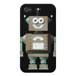 Caso retro del iPhone del robot del juguete (DK) iPhone 4 Funda