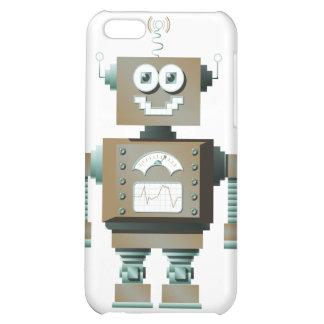 Caso retro del iPhone del robot del juguete (lt)
