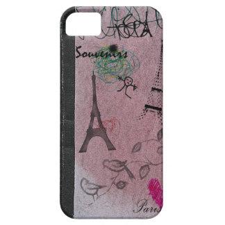 Caso retro del rosa iPhone5 del vintage del adorno iPhone 5 Fundas