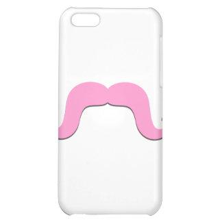 Caso rizado rosado del iPhone 4 del bigote de la d