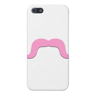 Caso rizado rosado del iPhone 4 del bigote de la d iPhone 5 Coberturas