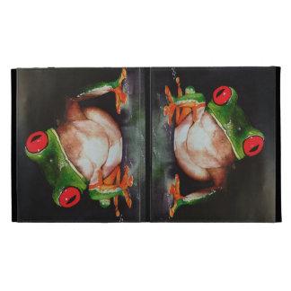 caso Rojo-observado del iPad de la rana arbórea