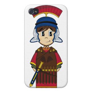 Caso romano lindo del iphone del soldado iPhone 4 fundas