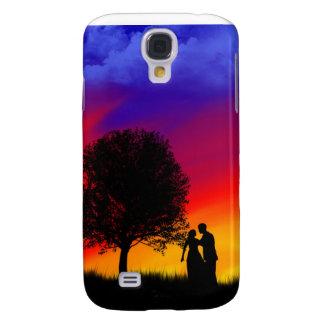 Caso romántico del iPhone de la puesta del sol Funda Para Galaxy S4