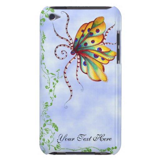 Caso romántico del tacto de iPod de la mariposa in iPod Touch Carcasas