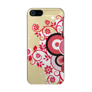 Caso romántico floral carcasa de iphone 5 incipio feather shine