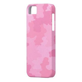 Caso rosa claro del iPhone 5G del camuflaje iPhone 5 Fundas