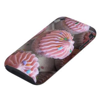 Caso rosado 3gs del iPhone de las magdalenas iPhone 3 Tough Fundas
