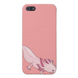 Caso rosado 4G del iphone del Salamander del Axolo iPhone 5 Coberturas