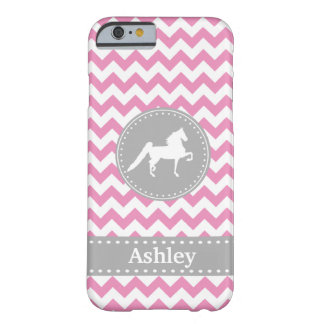 Caso rosado adaptable del iPhone 6 de Saddlebred Funda Barely There iPhone 6